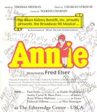 The Annie playbill