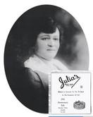 Julia Wolf's Portrait and Dress Shop Ad