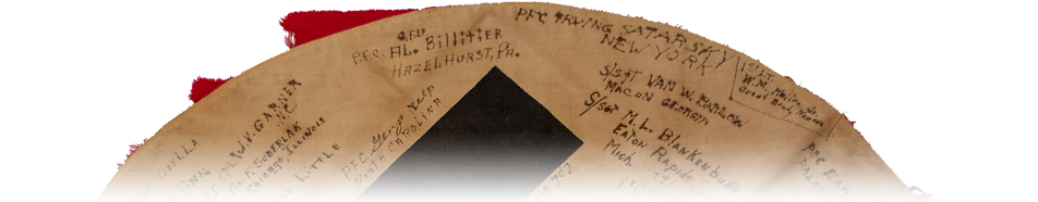Nazi Flag with signatures_virtual museum