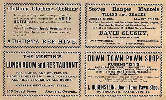 Merchant Ads, 1904