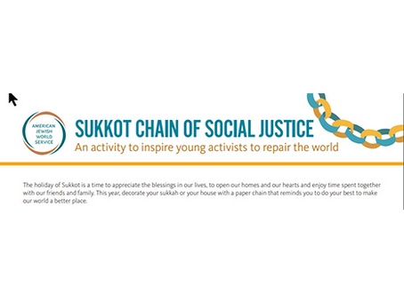 Sukkot Chain of Social Justice