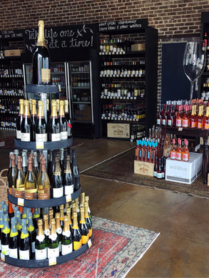 Ambiance of Expansive Wine Selection