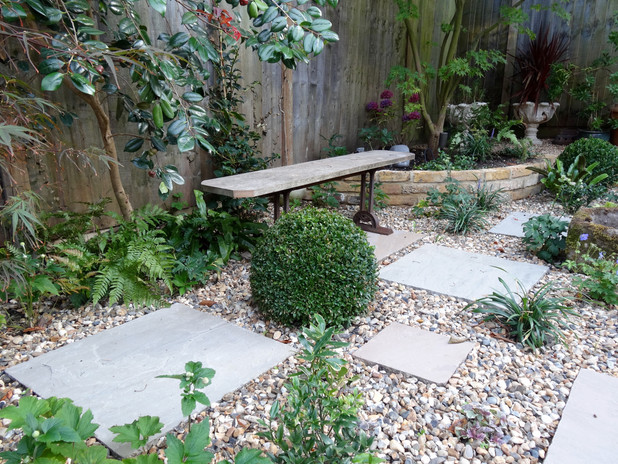 Bespoke Bench with Wrought iron base