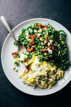 Scrambled Eggs + Vegies