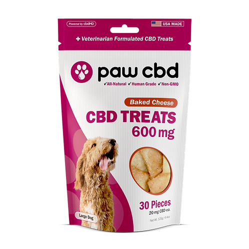 Pet CBD Oil Treats for Dogs BAKED CHEESE - 600 MG - 30 COUNT