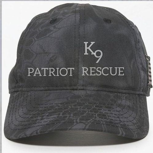 PK9R Kryptek Typhon Hat w side flag