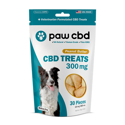Pet CBD Oil Treats for Dogs PEANUT BUTTER - 300 MG - 30 COUNT