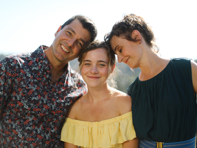 Lexi, Alex Quijano and Jules Bruff on set of Good Side of Bad