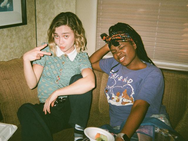 Lexi and KeeKee Simone on set of Vegas High Pilot