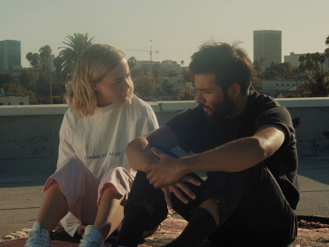 Lexi on set for Addy Daddy with co star Jared Trevino
