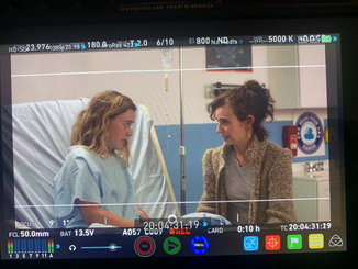 Lexi and Jules Bruff on set of Good Side of Bad
