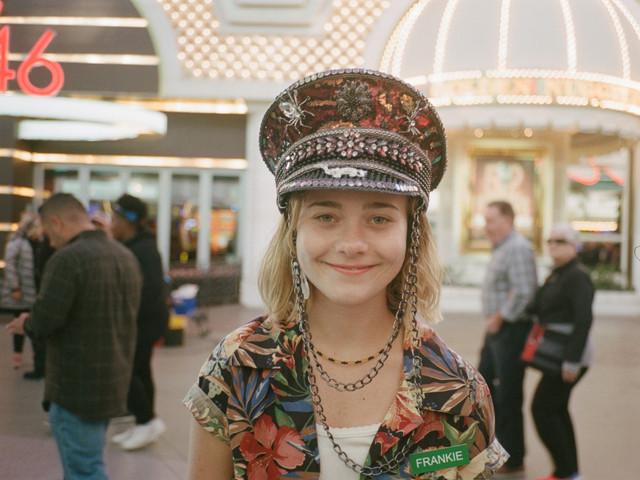 Lexi on set of Vegas High Pilot