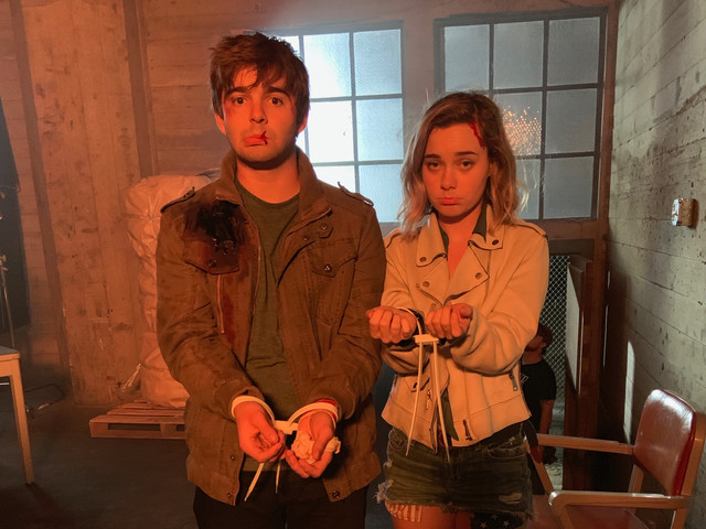 On set of The 2nd (Netflix) with Jack Griffo