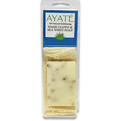 Ayaté Wash Cloth with Seaweed Soap