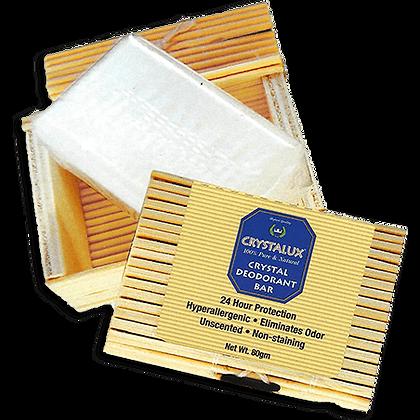 Crystalux® Deodorant Stone in Decorative Bamboo Box