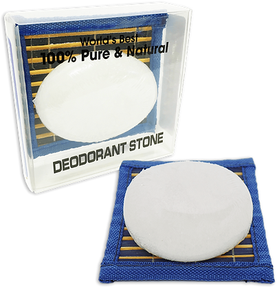 Large Deodorant Stone on Bamboo Counter Mat (5.5 oz)