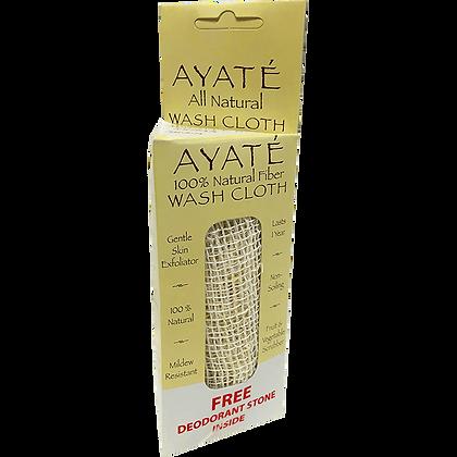 Ayaté Wash Cloth with FREE Deodorant Stone