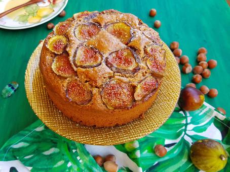 Torta Settembrina Nocciole e Fichi