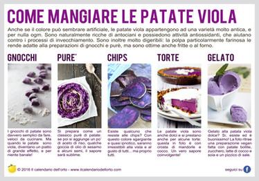 come mangiare le patate viola