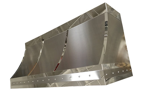 (2) Brushed Stainless Range Hood - Mirrored Straps