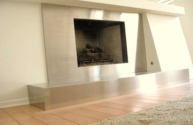 Stainless Fireplace