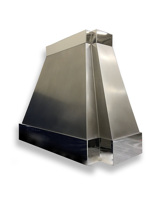 (5) Non Directional Stainless Range Hood - Mirrored Bands