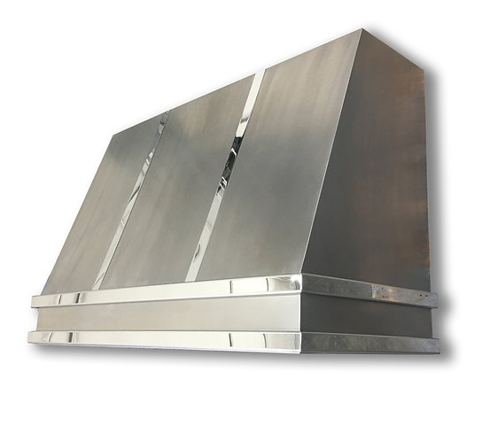 (6) Non Directional Stainless Range Hood - Mirrored Bands
