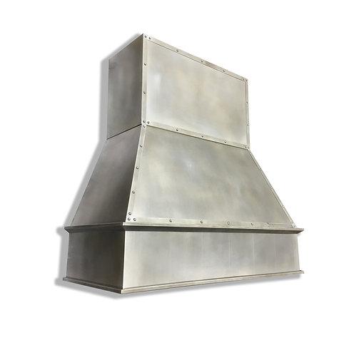 (19) Modeled Patina Zinc Range Hood - Zinc Accents