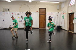 Jayden teaches the Mentors some moves