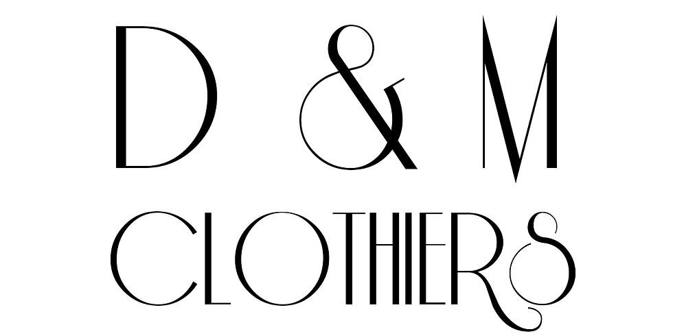 D & M Clothiers New York Suit Sale