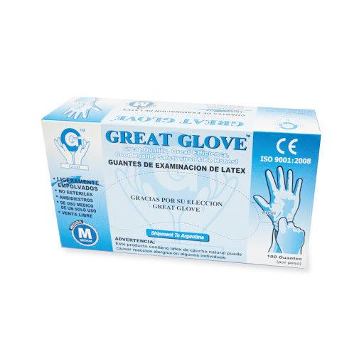 12 -GUANTE LATEX GREAT GLOVE S,M,L