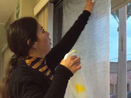 Instala hule burbuja para protegerte del frío de forma sencilla y económica