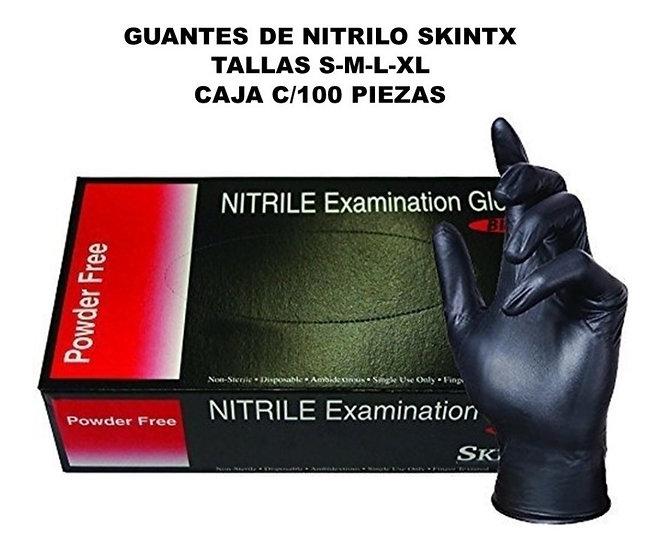 13 -GUANTE NITRILE SKINTX NEGRO S,M,L,XL