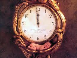 baby in clock