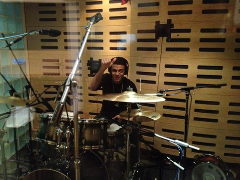 Recording drums with Dion from The Frontline and Grammy award winning engineer Beatrize Artola - sounding Killa - thanks Fraser T ;)