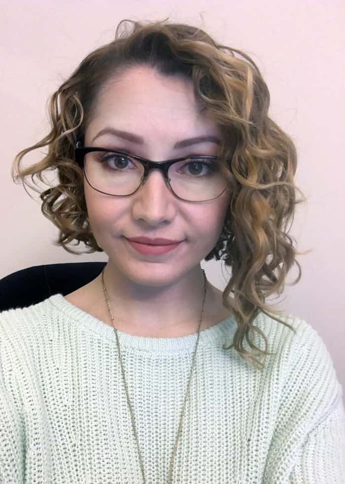 Asymmetrical New York Dry curly cut