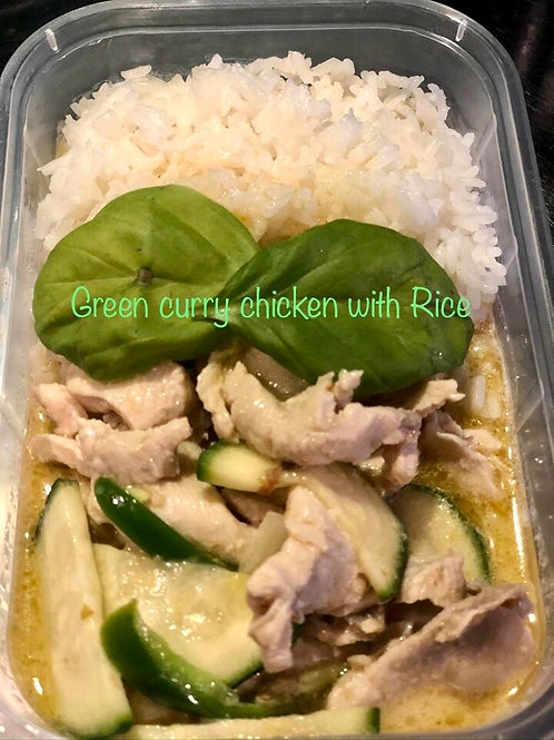 Fon's Thai Takeaway Green Curry Chicken Portion