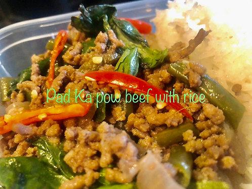 Fon's Thai Takeaway Pad Kra Pao Beef Portion