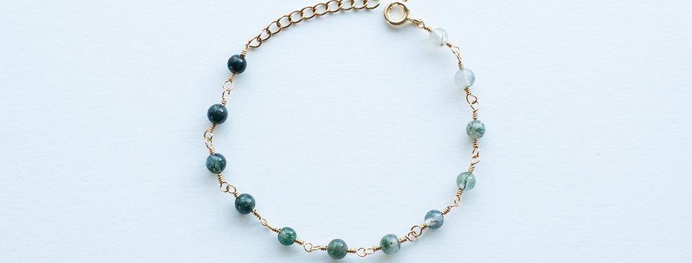 """Bracelet Luna """"Agate mousse"""""""