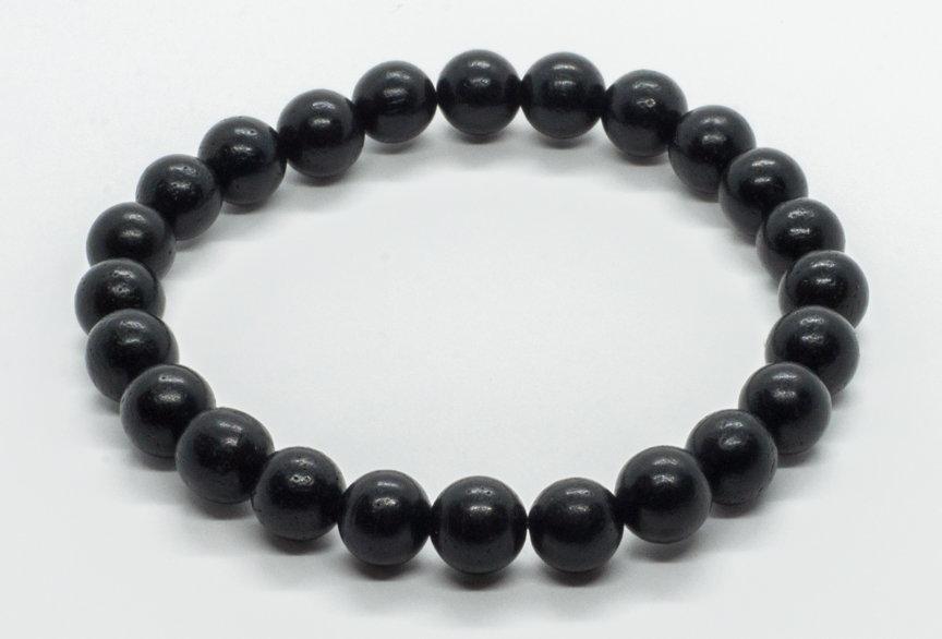 Bracelet Bois Ébène Noir 8mm