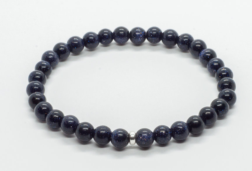 Bracelet Blue Goldstone 6mm