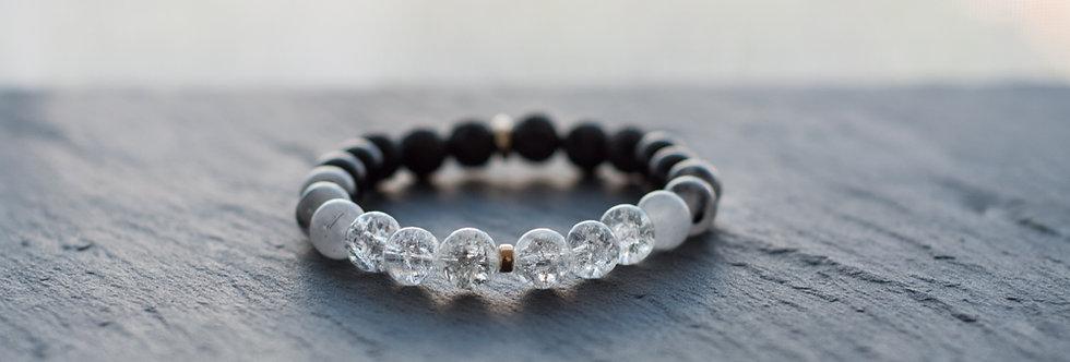 Bracelet d'Apaisement et de Créativité, Cristal de Roche