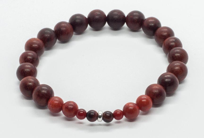 Bracelet Bois de Santal & Corail