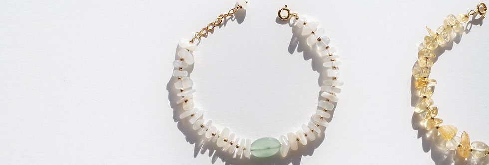 """Bracelet Astro """"Opale blanche"""""""