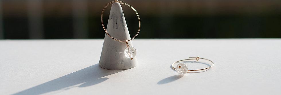 Boucles d'oreilles Lola - Gold Filled - Pierres 8mm