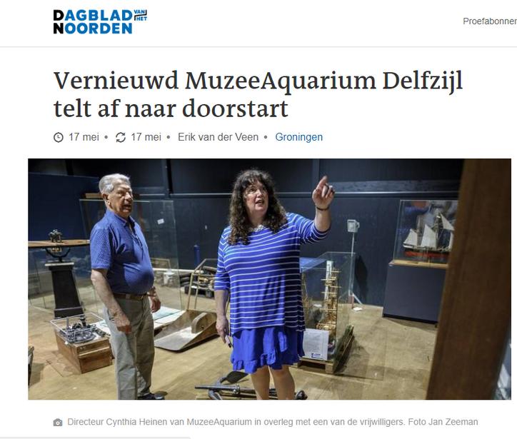 Het aftellen is begonnen voor het MuzeeAquarium in Delfzijl