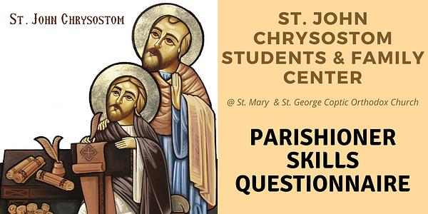ST. JOHN CHRYSOSTOM STUDENTS & FAMILY CE