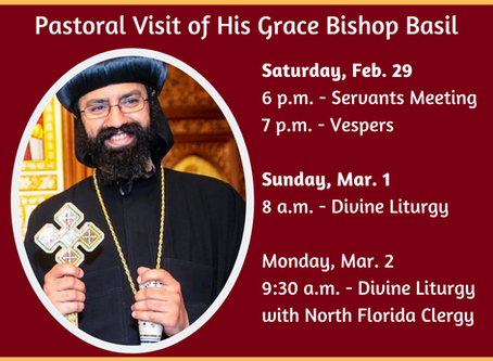 H.G. Bishop Basil's Pastoral Visit