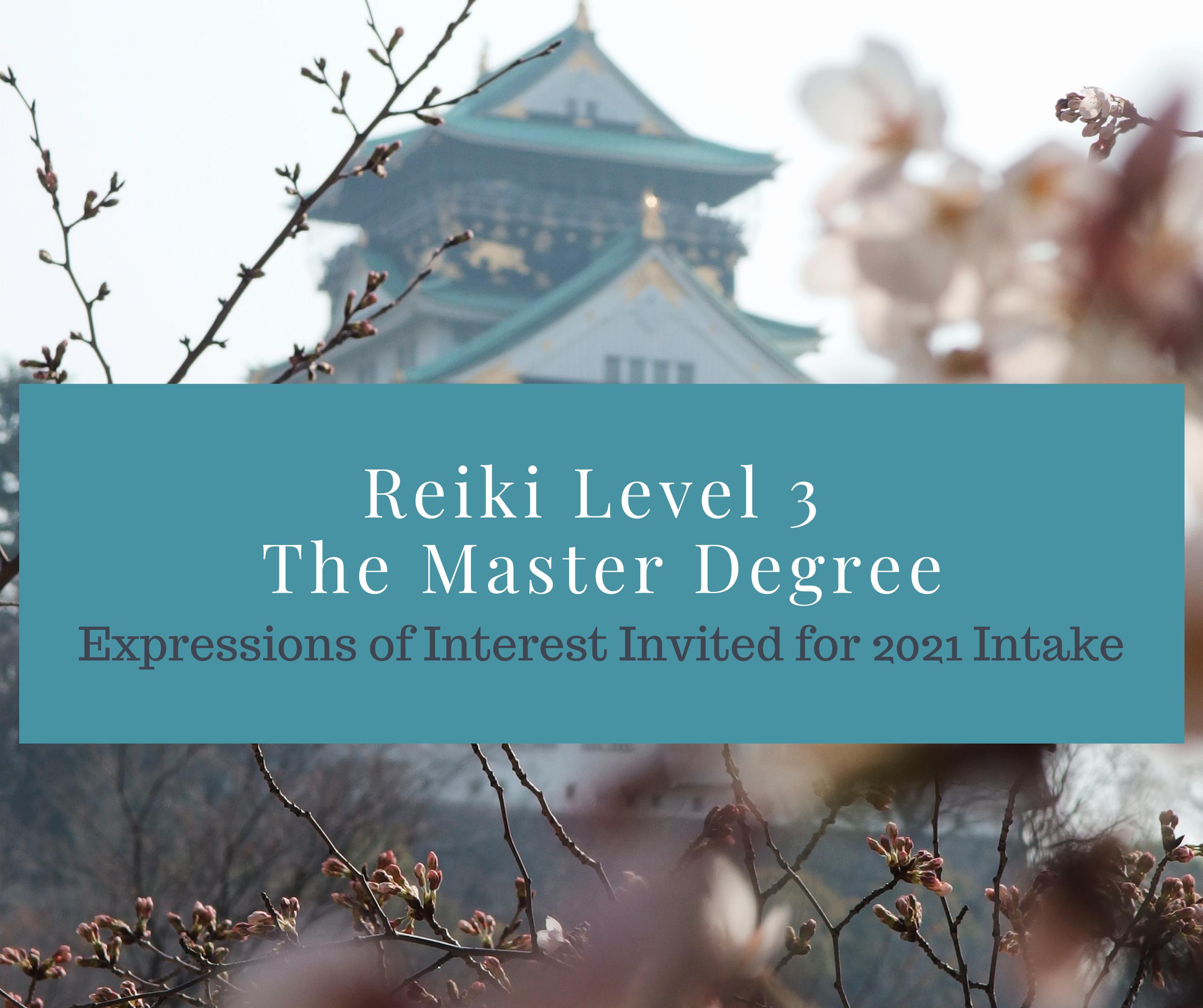 Reiki Level 3 - The Master Degree