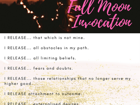 Full Moon Invocation & Cleansing